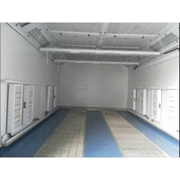 With radiator electrica heat spray booth