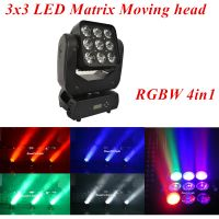 3x3 LED Matrix Moving head beam RGBW 4in1 9 eyes beam