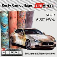 Axevinyl Factory Direct Sale Car Wrap Vinyl Premium Quality Rusty Camouflage Wrap Vinyl Sticker Bomb