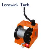 Lifting Hoist Yacht Boat Wire Rope Hand Manual Worm Gear Winch thumbnail image