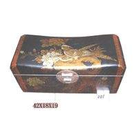 Antique box,Leather covered box,Jewelry box thumbnail image