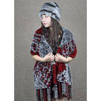 Rabbit fur scarf shawl thumbnail image