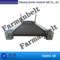 2.3MM thickness black treadmill conveyor belt flat conveyor belt