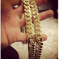 "Jewelry Set Men's Stainless Steel 10MM Curb Cuban Link Necklace & Bracelet in 24"" & 8.5"""