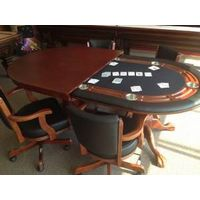 96'' poker dining table for sale