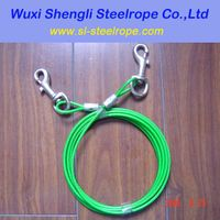 Plastic coated steel dog Tie Out Cable