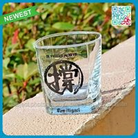 2015 new product shot glass wholesale shot glass with decal logo wholesale