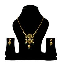Antique Kundan Pendant Set With Ruby & Kundan Chain