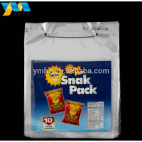 Custom printed high quality clear two side reusable plastic wicket food storage bag thumbnail image