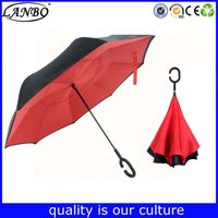 Umbrella for car Automatic open windproof double layer inverted umbrella