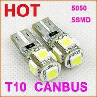 Factory supply High-quality 12V Canbus T10 5050 5led w5w / 194 / T10 car led lights car, Auto led la