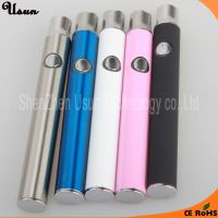 Adjustable voltage 2.6V 3.3V 4.0V preheat function 510 battery manual vape pen with button