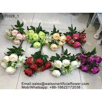 silk peony bouquet