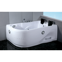 computer control Modern Corner Acrylic Massage Bathtub