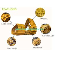 New product HRC52-58 hardness bulldozer spare parts bulldozer parts D155A-3 track roller