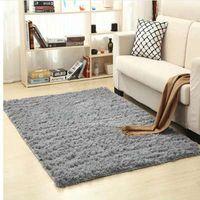 Super Soft Silk Wool Rug Indoor Modern Shag Area Rug Silky Rugs Bedroom Floor Mat Baby Nursery Rug C thumbnail image