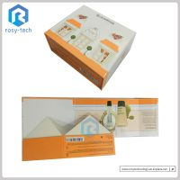 Cosmetics Folding Rigid Paper Packaging Gift Box For Skin Care Products