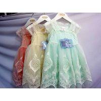 Elegant Laciness Sleeve Girls Maxi Dress Wear Pearl Beaded Waistband Children Lace Dress Patterns MY thumbnail image