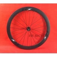 Fast cycling 700c carbon T800 50mm clincher wheel with road black Bitex hub 11s blade spokes black n