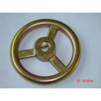 Cast iron wheel for agricultural accessories