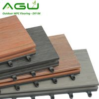 Wood Plastic Composite WPC Flooring Outdoor DIY Tiles