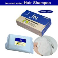 Shampoo-IN20, sheet type shampoo,no need water