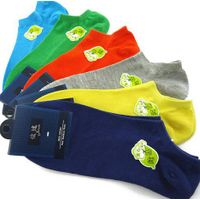 Wholesale Men's Candy Colors Cotton Socks