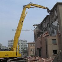 High reach demolition boom