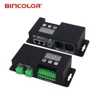 BC-853 DMX512 dimmer RJ45 digital display rgb strip manual dmx decoder 3CH led controller