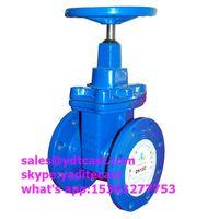 din 3352 PN16 f4gate valve blue color dn100 hand wheel
