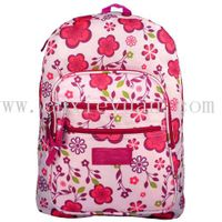 Pink Spring Flowers Pattern Backpack / School Bag