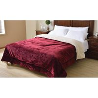 SOLID FLANNEL QUILT SHERPA COMFORTER