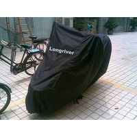 Black Waterproof Polyester Motorcycle Cover / Motorbike Cover / Scooter Cover