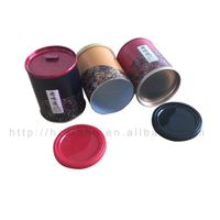 Retail Round Shaped Airtight paper cans Mixed Powder Paper Canister Packaging