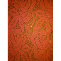 100% nylon lace fabric with gold thread thumbnail image