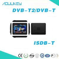 Fashion hand-held TV 9 inch can be used for car DVB-T2 ISDB-T digital TV broadcast