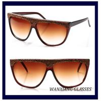 Snakeskin Vintage Flat Top Sunglasses