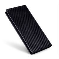 RFID carbon fiber wallet geniune leather longstyle men 's wallet
