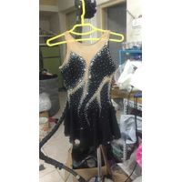Black Ice Skating Dresses Women Custom Figure Dress