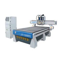 1325 vaccum table three  process  woodworking cnc router with 3 spindles thumbnail image