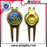 Promotion metal golf cap clip with ball marker thumbnail image