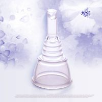 hot sale medical soft feeling reusable silicone menstrual cup for women