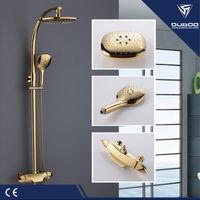 Brass Shower Faucet Set Gold Shower Mixer