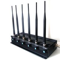 Adjustable 6 Antenna 15W High Power WiFi,GPS,Mobile Phone Jammer