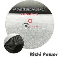 Black Double Side Felt Conveyor Belt NOVO25 NOVE BELT 250HC