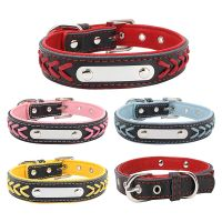 Custom Leather Collars Braided Genuine Leather Name Plated Dog Collars