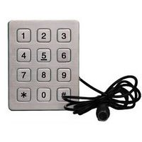 3x4 matrix keypad stainless steel metal keypad used for access control system