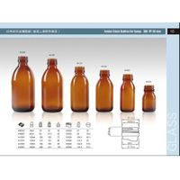 Amber glass bottle for syrup