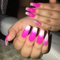 Wholesale Natural Acrylic Nail Tips French 100pcs with Case Manicure Practice Hand Stencils Fake Nai thumbnail image