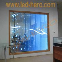 Good quality all over the world glass led screen/ Led display transparent P10